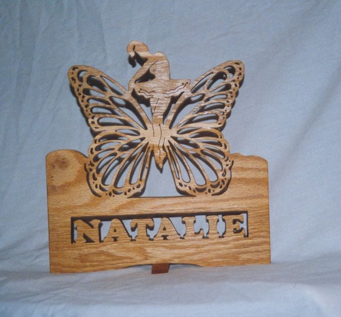 Custom child's name------she loved butterfly's and also like to dance----so she got two for the cost of one