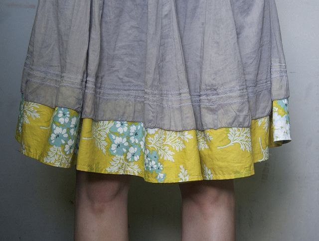 lengthened skirt--for my dresses that shrink or Jill's skirts that get too short