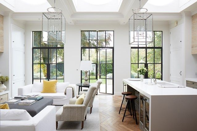 Open-Plan Living Area - An open-plan layout full of intriguing design details in this Victorian house at Oxford - real homes on HOUSE by House & Garden.