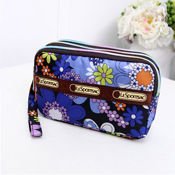 Cute Flaral 3 Zipper Women Clutch Cell Phone Bags Functional Day Clutches Evening  Coin Purse 2016 //Price: $6.00 & FREE Shipping //     #hashtag1