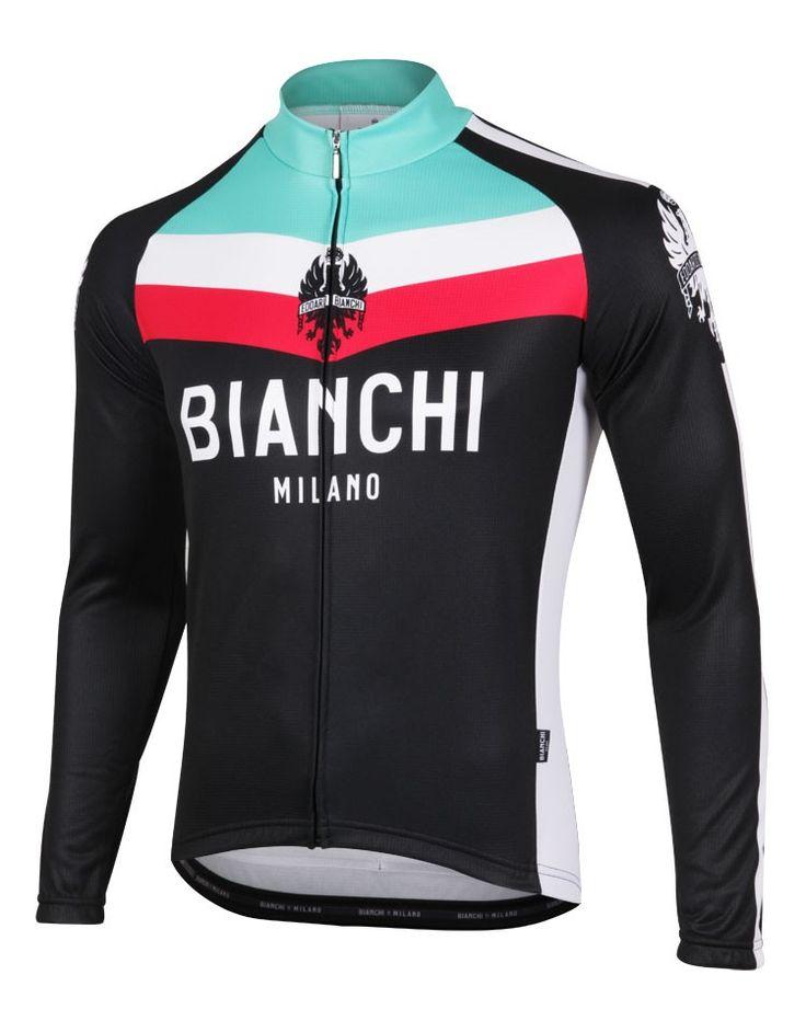 Bianchi Kando Long Sleeve Cycling Jersey, Cycling Jerseys, ProBikeKit Canada