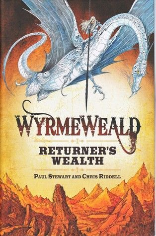 """""""Wyrmeweald. Returner's wealth"""", by Paul Stewart and Chris Riddell - Young pioneer, Micah, enters Wyrmeweald full of hope to return home having made his fortune. But this is a land where wyrmes, fabulous dragon-like beasts, roam wild and reign supreme. In Wyrmeweald man is both hunter and hunted - Micah may never return alive, let alone a hero. After a near-brush with death, Micah soon finds a chance to prove his worth when he meets with Eli, a veteran tracker of Wyrmeweald."""