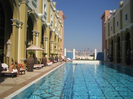 The hotel roof swimming pool, Dubai