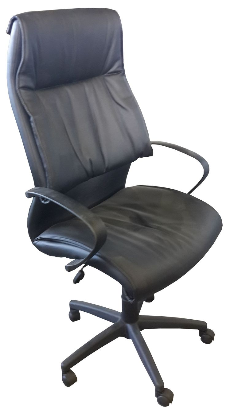 Black leather highback tyist chair @ R695.00