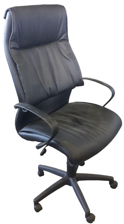 Black leather highback tyist chair @ R695.00