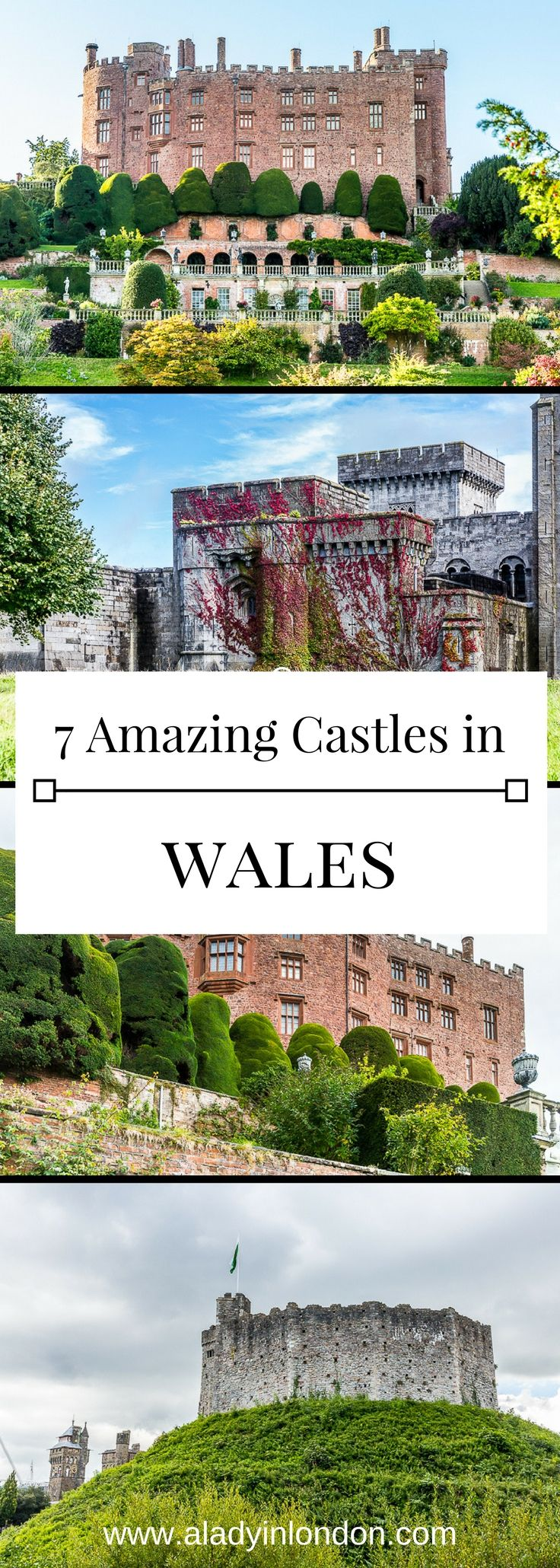 7 amazing castles in Wales, from coastal beauties to Cardiff Castle itself.  #wales #castle #uk #travel