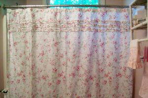 Simply Shabby Chic Blue Shower Curtain