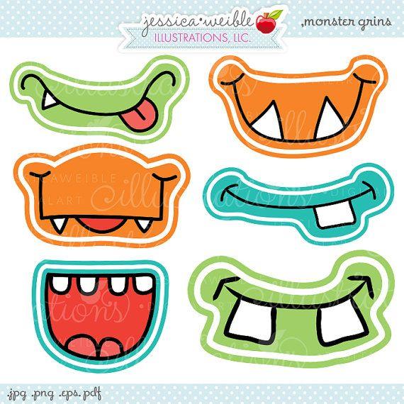 E stai sorridendo come piccoli mostri! Questo SUPER carino mostro Grin set di grafica viene fornito con 6 bocche di mostro sorridente unico.  Em