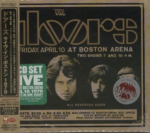 The Doors Live In Boston 1970 Japanese Promo 3-CD album set (Triple CD)  sc 1 st  Pinterest & 179 best Rare Doors CDs from Around the World images on Pinterest ...