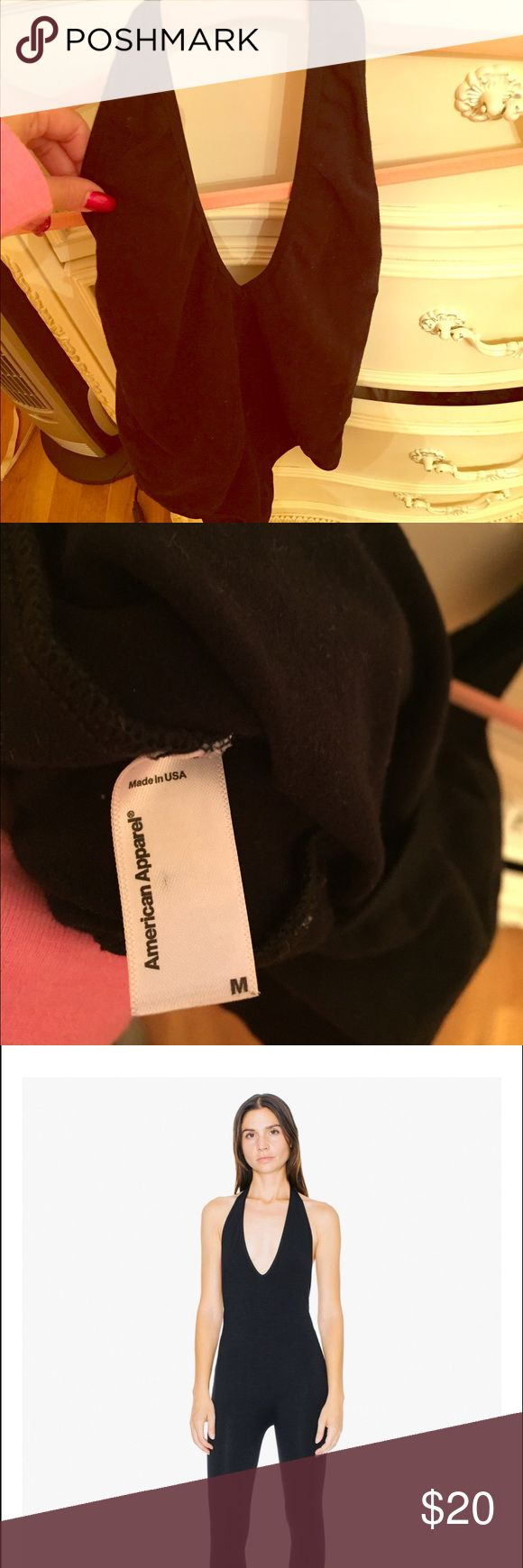 American apparel black halter bodysuit open back American apparel black halter bodysuit open back ! Pictured in the last two pics of front and back NWOT American Apparel Tops