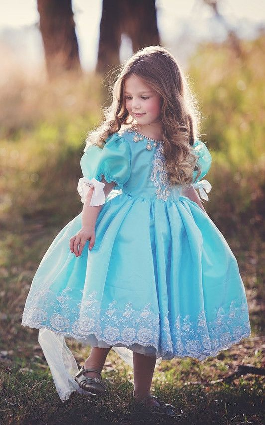 """Darling Blue""... An Enchanting Flower Girl Dress. Available in numerous color schemes!"