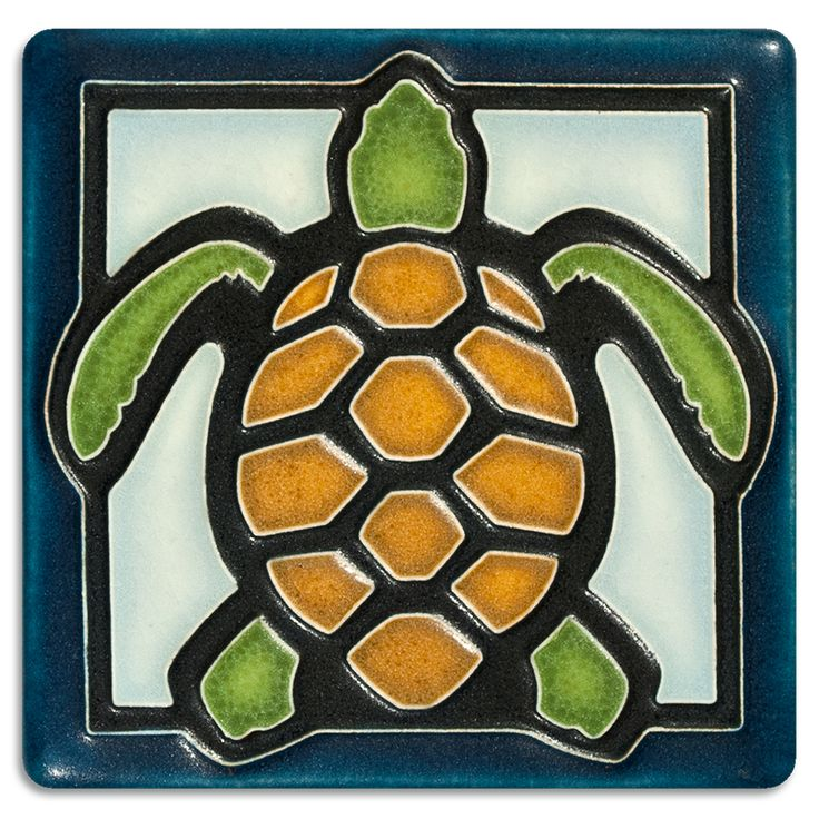 Motawi Tileworks Collection It all started with a Dragonfly tile. We loved it so much that other small insects and animals were added to the line, including this Turtle, a Frog, a Butterfly, and a Bee