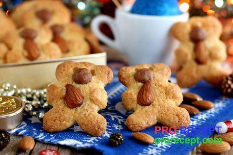 Печенье «Мишки с миндалем»