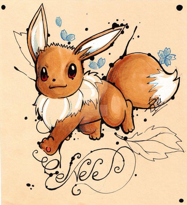 Eevee - Pokemon by eREIina.deviantart.com on @DeviantArt