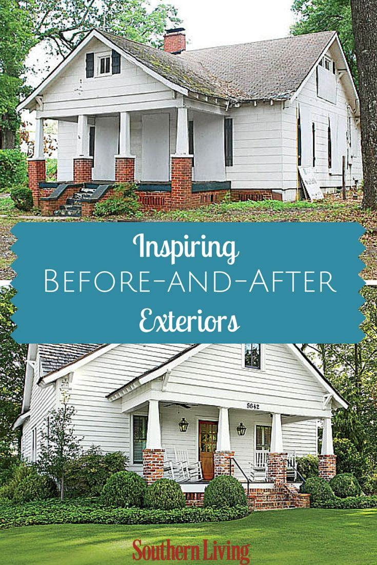 17 best ideas about home exterior makeover on pinterest for Before and after exterior home makeovers