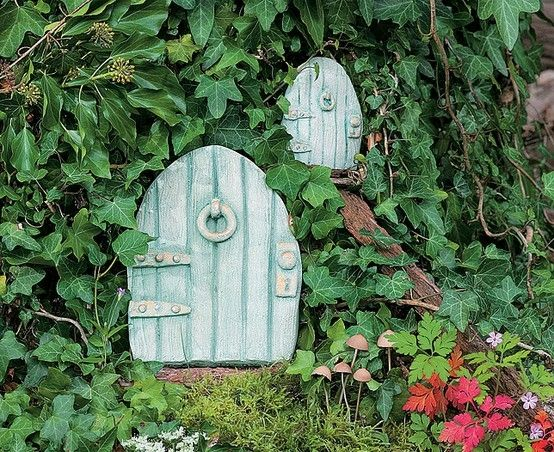 Fairy Doors - a little air drying clay and some paint will do the trick.