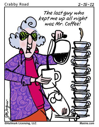 Maxine and Mr. Coffee