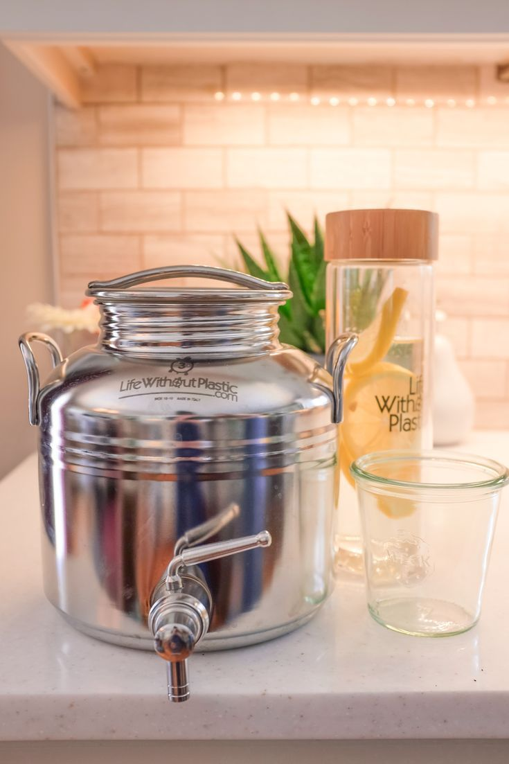 Stainless Steel Dispenser By Life Without Plastic 10 L 2 6 Gal Natural Cleaning Products Plastic
