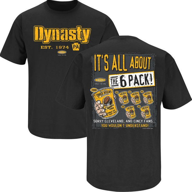 Pittsburgh Steelers Fans. Dynasty. T-Shirt