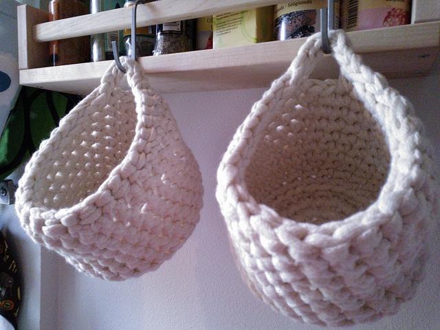 Virkattuja koreja (crochet baskets)