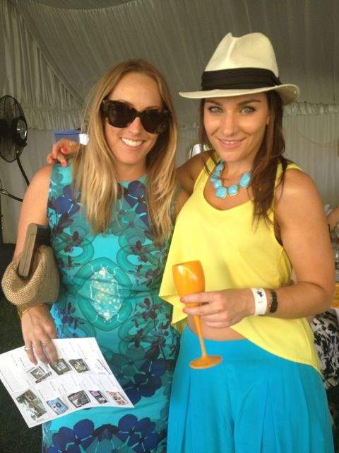 Cherie Walker, beautiful designer of the Alexis Dawn label and Frina Cowan rocking Alexis Dawn at Polo in the City