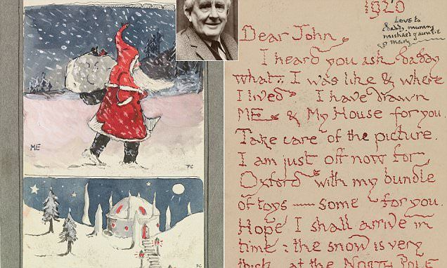 Charming letters written by father christmas to tolkiens children charming letters written by father christmas to tolkiens children father christmas and elves spiritdancerdesigns Image collections