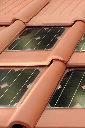 Hmmm. Solar roof tiles. Maybe I can have that Italian tiled roof I dream of. ;-)