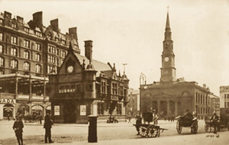 named after St Mungo's mother, St Thenew  (buried here) AKA St Enoch Hotel & church