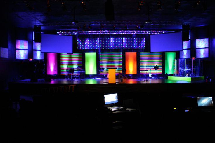 Children S Church Stage Design The Splatter Paint