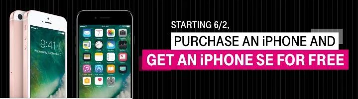 T-Mobile purchase a new iPhone can get an iPhone SE (16GB or 32GB) for free. #LavaHot http://www.lavahotdeals.com/us/cheap/mobile-purchase-iphone-iphone-se-16gb-32gb-free/207743?utm_source=pinterest&utm_medium=rss&utm_campaign=at_lavahotdealsus