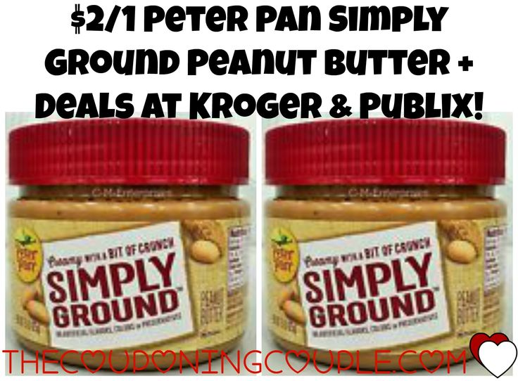NEW $0.50/1 Peter Pan Simply Ground Peanut Butter Coupon + Deals at Kroger & Publix! Head over and print this new $0.50/1 Peter Pan Simply Ground Coupon and use it to score deals at Kroger & Publix!  Click the link below to get all of the details ► http://www.thecouponingcouple.com/new-0-501-peter-pan-simply-ground-peanut-butter-coupon-deals-at-kroger-publix/ #Coupons #Couponing #CouponCommunity  Visit us at http://www.thecouponingcouple.com for more great posts!