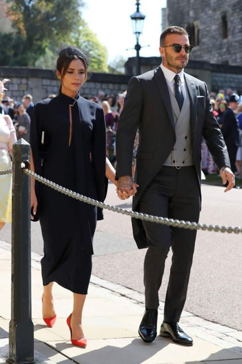 dff9b1239c8 David and Victoria Beckham on wedding Harry and Megan