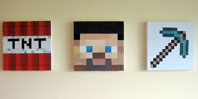 Wall Decorations Minecraft : Minecraft wall art benjy