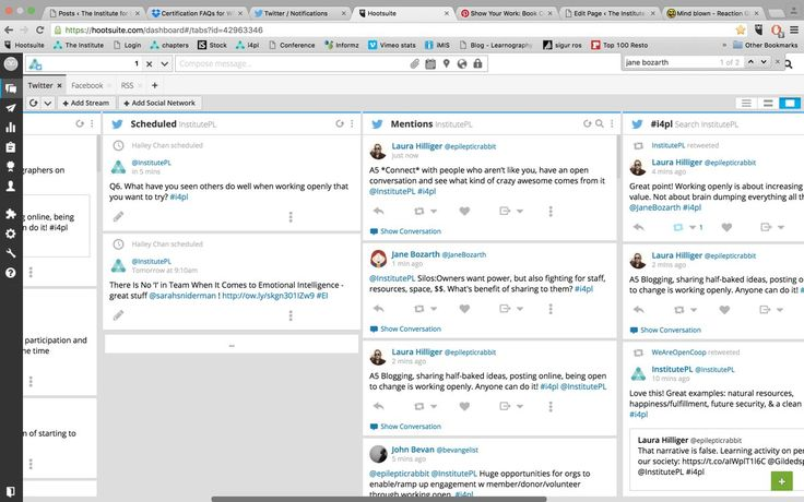 """""""InstitutePL @InstitutePL  1m1 minute ago Do screenshots count? Am I working openly yet? This is me moderating a Twitter chat #i4pl """""""