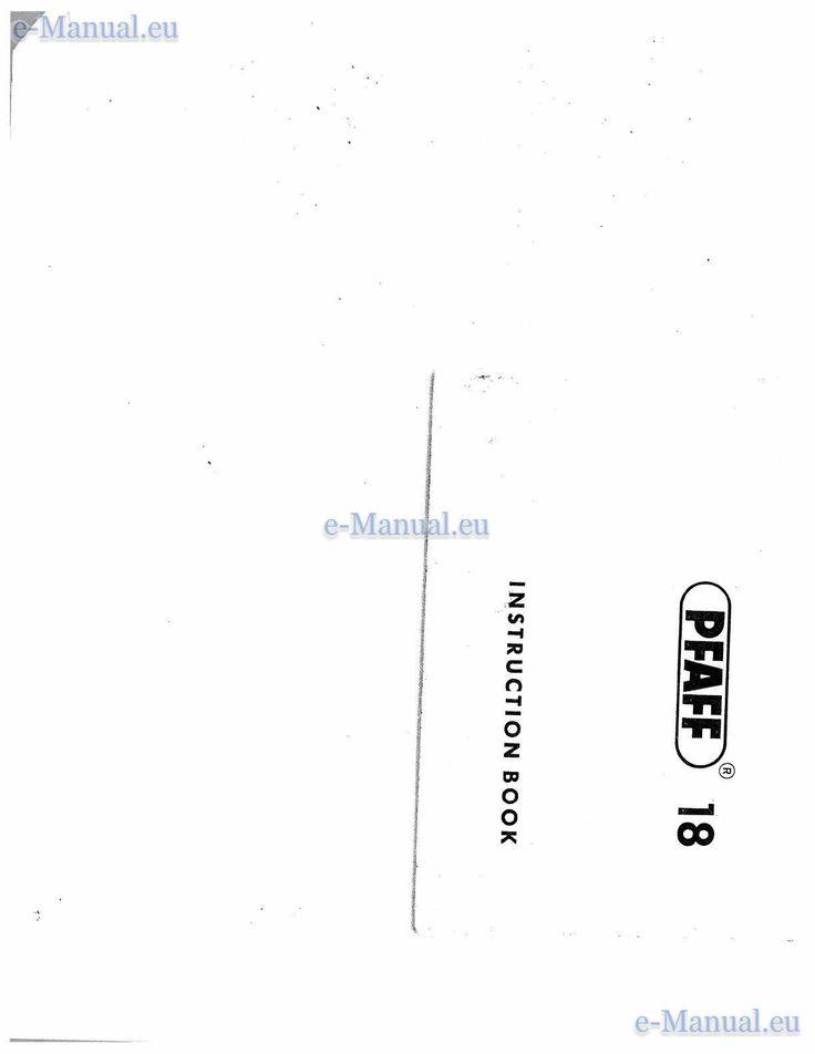 PFAFF 260 Maszyna do szycia - Podgląd instrukcje użytkownika | Strona: 1