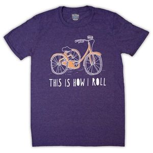 Tricycle Retro This Is How I Roll Mens T-Shirt (Purple Magic)