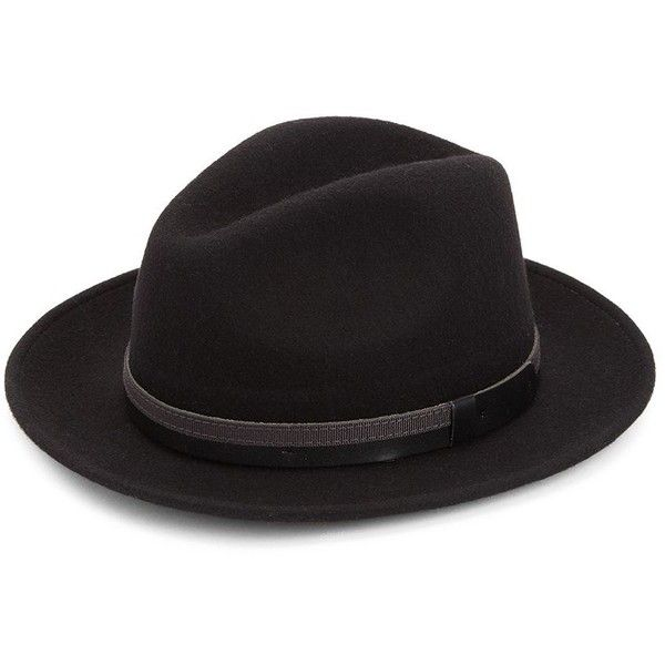 Saks Fifth Avenue COLLECTION Wide Brim Wool Fedora Hat (290 BRL) ❤ liked on Polyvore featuring men's fashion, men's accessories, men's hats, mens wide brim fedora hats, mens wide brim hats, mens wool fedora, mens wool hats and mens hats