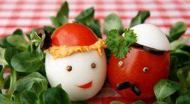 Веселые  блюда из яйца