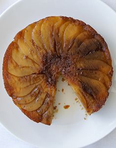 Pear Upside Down Cake - A delicious cake or dessert. Very moist. barcookie