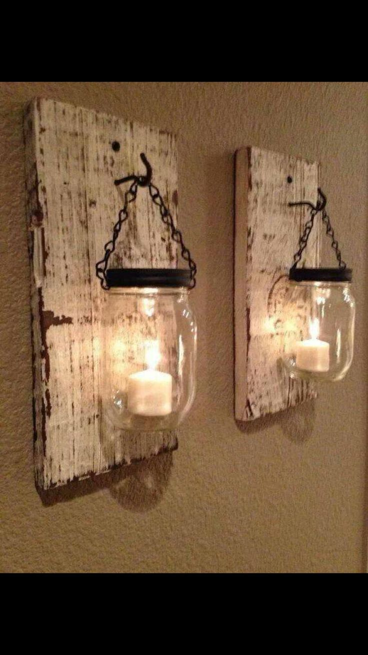 Mason Jar Candle Holders 17 Best Re Purpose Items Images On Pinterest