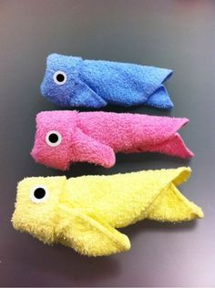 Towels Folded Into Cute and Cuddly Shapes - Randommization
