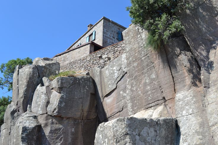 Stone house in Assos, Canakkale, Turkey