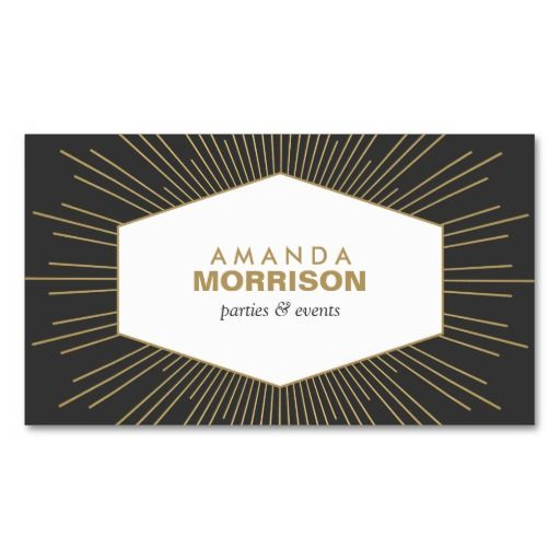 44 best business cards for event planners and wedding planners vintage sunburst emblem for event planner business card colourmoves