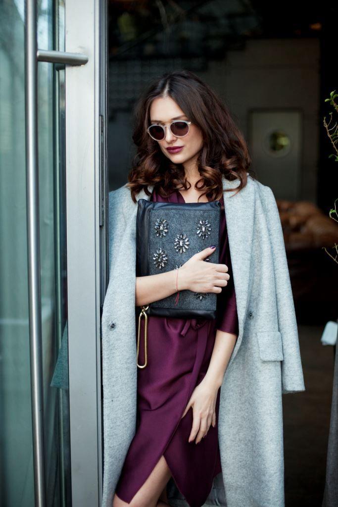Платье, пальто, клатч - Uterque