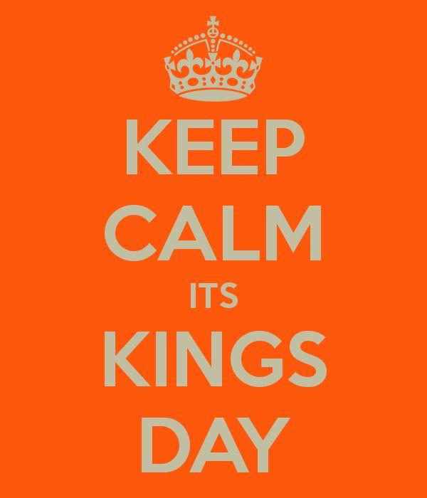 Keep calm, it's kings day!!!! | Blijf kalm het is koningsdag! Hoe gaan jullie dit vieren? Heerlijk buiten of blijven jullie door de regen toch maar binnen? | quote of the day | #king #koning #feest #party