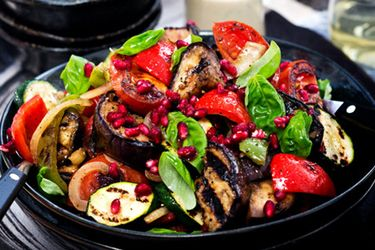 Barbecue aubergine salad – Recipes – Bite