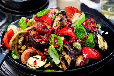 Barbecue aubergine salad – Recipes – Bite