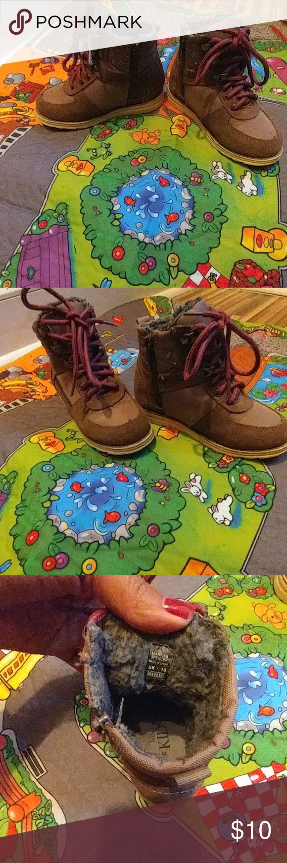Marks & Spencer boots Boys UK 10 brown boots (great condition) Shoes Boots