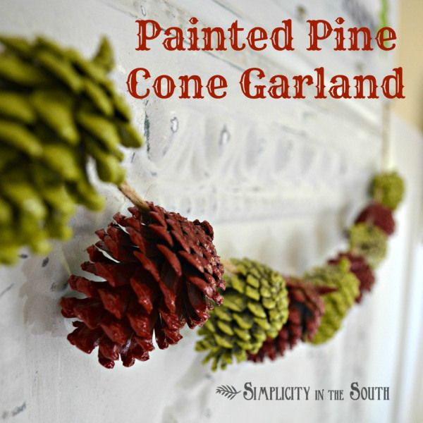 How to make a painted pine cone garland.