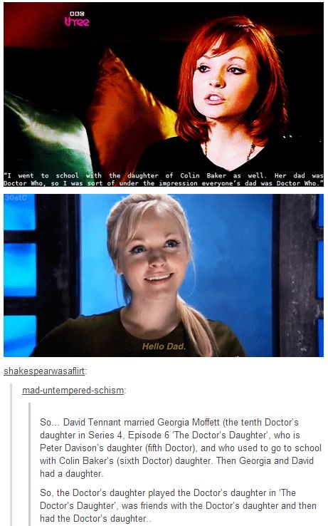 Doctor Who daughters.
